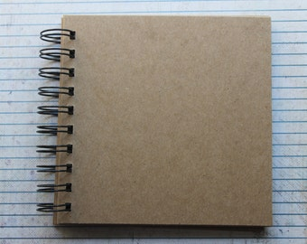 10 Page Square Chipboard die cut Album 5 1/2 inches wide x 5 1/2 inches tall Wire bound