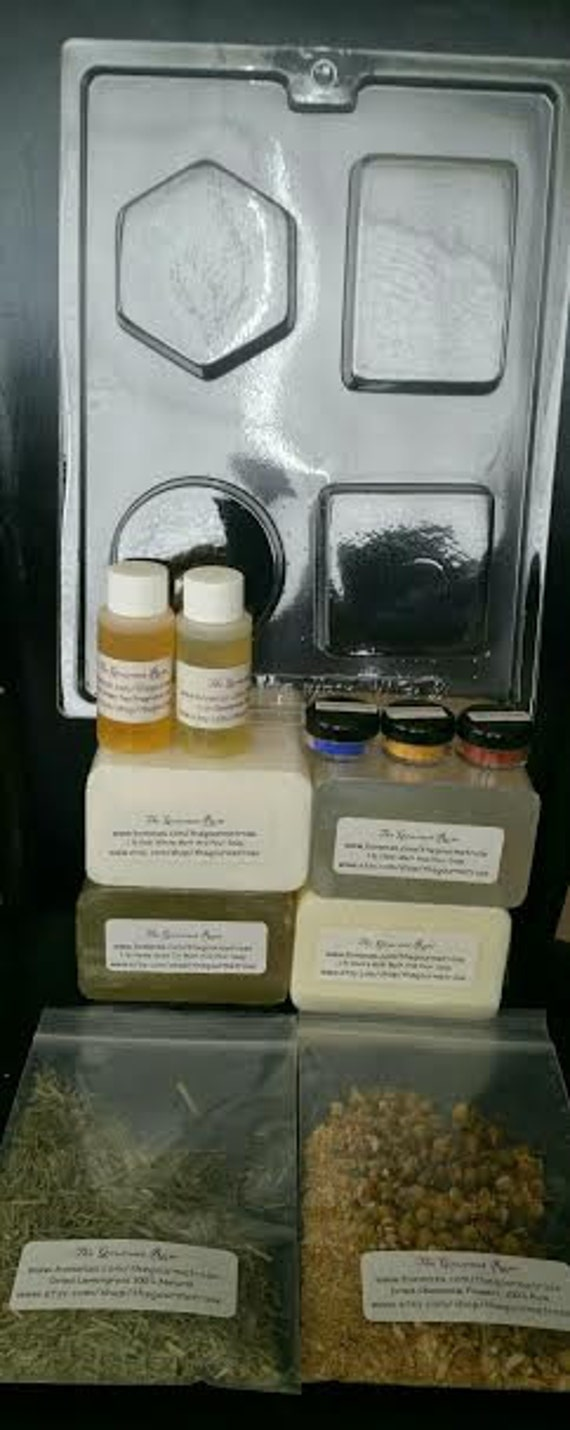SUPREME SOAPMAKING KIT 100 All Natural Melt And Pour Glycerin DiY Soap Making Easy Do It Yourself Extra Large