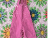 Pink Overalls 3-6 Months