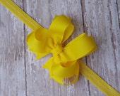 Yellow Baby Headband Double Layered Infant Toddler Bowband Yellow Infant Headband Yellow Toddler Headband Yellow Headband
