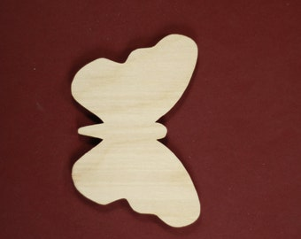 Butterfly Shape Unfinished Wood Laser Cut Shapes Crafts Variety of Sizes
