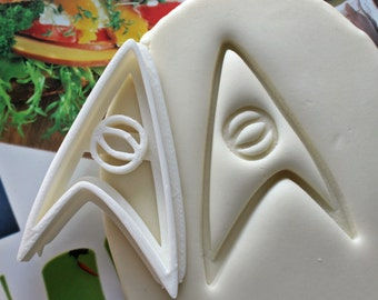 Star Trek Science Symbol Cookie Cutter / Made From Biodegradable Material / Brand New / Party Favor / Kids Birthday / Baby Shower / Cake Top