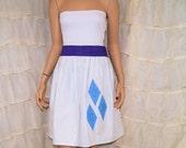 Little Pony Rarity Strapless Summer Sun Dress Cosplay Costume Adult All Sizes MTCoffinz