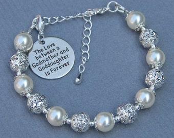 Godmother Goddaughter Gift, Godmother GoddaughterJewelry, Goddaughter Bracelet, Phrase Jewelry, Gift for Godmother