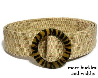 Tan Fabric Belt / Khaki Belt / Womens Beige Belt / Cream Woven Belt / Off White Belt / Wide Trench Coat Belt xs to plus size women (Dune)