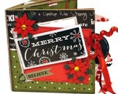 Merry Christmas Scrapbook - Holiday Paper Bag Mini Album
