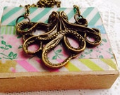 Custom order Open Sea Octopus Necklace