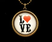 Love Letters 25mm Round Necklace
