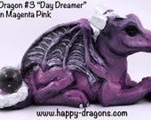 "OOAK Cute Dragon Sculpture Happy Dragons ""Day Dreamer"" Custom Order 3rd in the line of Happy Dragons!"