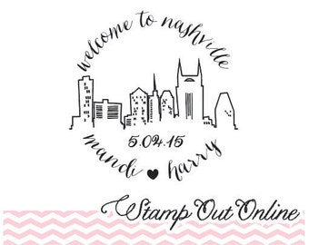 Welcome to our wedding, Destination Wedding rubber stamp custom clear block stamp, Wedding Favor Stamp