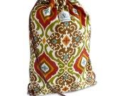 Spanish Tile Drawstring Backpack