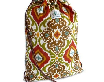 Spanish Tile Drawstring Backpack