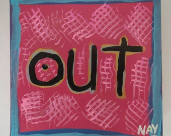 Pink Out WORD Painting