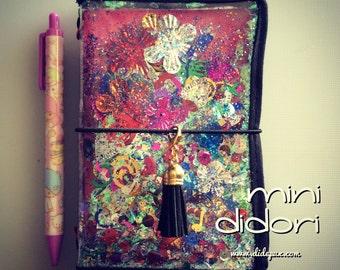 Last one!!! Mini DIDORI confetti TRAVELER'S NOTEBOOK or passport cover fauxdori (pocket slim)