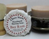 Bay Rum Shaving Bar Soap- traditional mens shaving soap - all natural for him, perfect stocking stuffer, christmas gift
