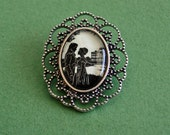 Sale 20% Off // PRIDE AND PREJUDICE Brooch - Silhouette Jewelry // Coupon Code SALE20