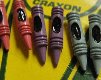 Vintage Crayon Pierced Earrings