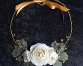 Bridal Necklace, Boho Bridal Jewelry, Bridal Statement Necklace, Woodland Bridal Accessory, Ivory Bridal Necklace