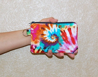 Tie Dye - iPhone 6s, iPhone 6, iPhone 5, iPhone 4, Samsung Galaxy S5/S6 - Cell Phone Gadget Zipper Pouch / Coin Purse