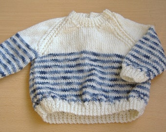 Handknitted Babies Sweater, Age 3 monthes