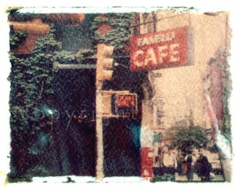 Polaroid transfer - Fanelli Cafe