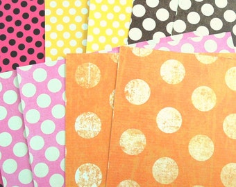 Polka Dot Series 2 -  Printed Paper - Set of 10 - 6x6 Inches