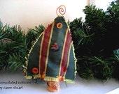 wine cork copper swirl christmas tree ornament vintage buttons handmade