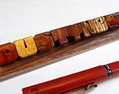 Desk Name, Exotic Wood Sa...