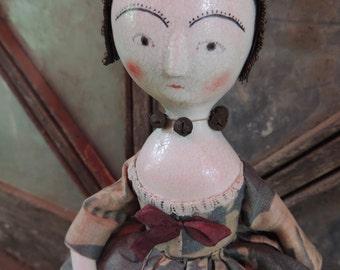 OoAk Queen Anne Poppet Doll Lady Bird