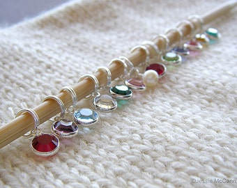 Decorative Knitting Stitch Markers : Metal stitch markers Etsy
