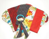 "Dinosaur Gift Set, ""Dinoroarrs"" set of 2 burp cloths with matching baby chew toy"