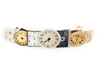 Steampunk Hair Clip with Authentic Vintage Watch Faces by Velvet Mechanism