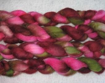 Handpainted Rovings -- Blueface Leicester Wool
