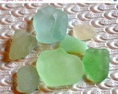 ON SALE NOW Sorbet Sea beach sea glass supplies. pale pastels. seafoam. light blue. jadeite white. bright green 218D