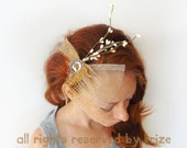 Wedding hair, bridal crown, golden, wedding hair accessories, girl headband