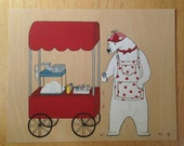 Creature Discomforts - The Snow Cone Seller - 8x10 Limited Edition Archival Print