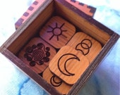 13 Witches round or square runes in a box