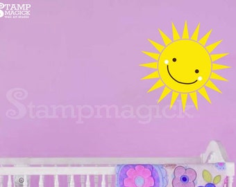 Sun Wall Decal - Sun Decal - Vinyl Wall Decal Decor Graphics Art Sticker for children's room - K177