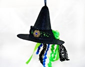 Ornament - Witch Hat - Electric Lime - Christmas Ornaments - Gifts under 15 - Witchcarft - Wicca