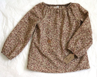 EMILY BLOUSE / size 4T / calico floral print / vintage fabric