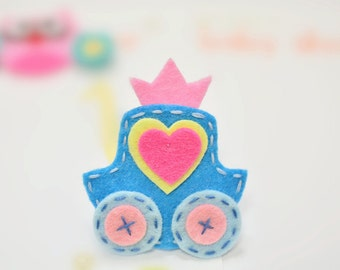 New! Set of 6pcs handmade felt pumpkin carriage--anti blue (FT1036)