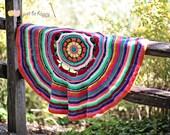 Dream Catcher Blanket and Ottoman Crochet PATTERN