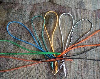 Handmade Boondoggle Rexlace Gimp plastic lace neck lanyard id badge holder