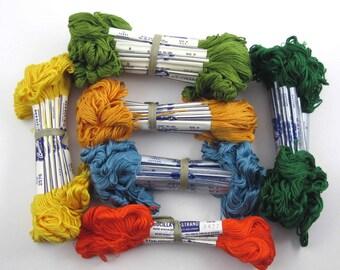 Huge Lot of 91 Skeins of Vintage Bucilla Embroidery Floss