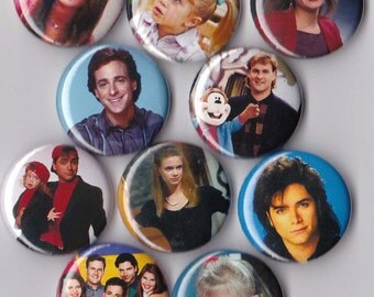 10 Full House Pinback Buttons
