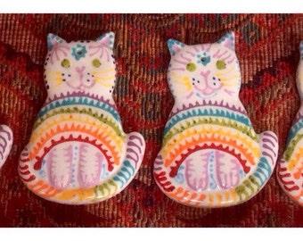 Rainbow Bridge Cat Memorial Ornament