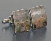 BMW Engine Part CUFFLINKS - with stampings of part #s and letters