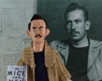 John Steinbeck Doll Miniature Classic Literature Author and Writer