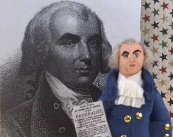 James Madison Doll American Presidential Art Miniature