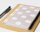 Gray Polka Dot Checkbook Holder, Check Book Cover, Purse Accessories, Teen Gift Idea